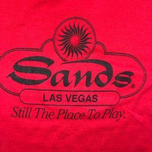 Sands Las Vegas Vintage Red T-Shirt Medium